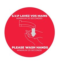 floor stickers- wash hands