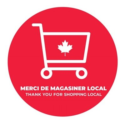 floor stickers -Thank you shop Canada