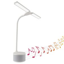 LED Dual Shade Desk Lamp w / Speaker